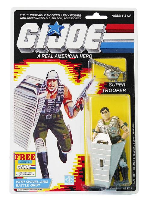 Action Force / GI Joe Super Trooper MOC Carded Custom With Sticker Offer