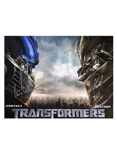 Optimus Prime & Megatron 16x12 Print Signed by Peter Cullen & Frank Welker