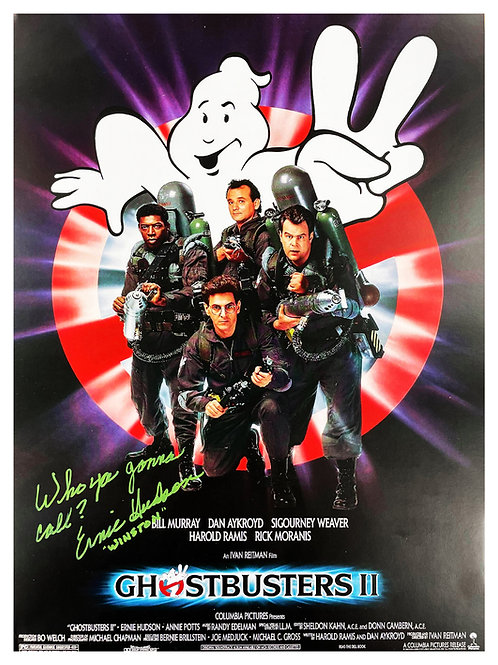 A3 Ghostbusters 2 Quoted Poster Signed by Ernie Hudson