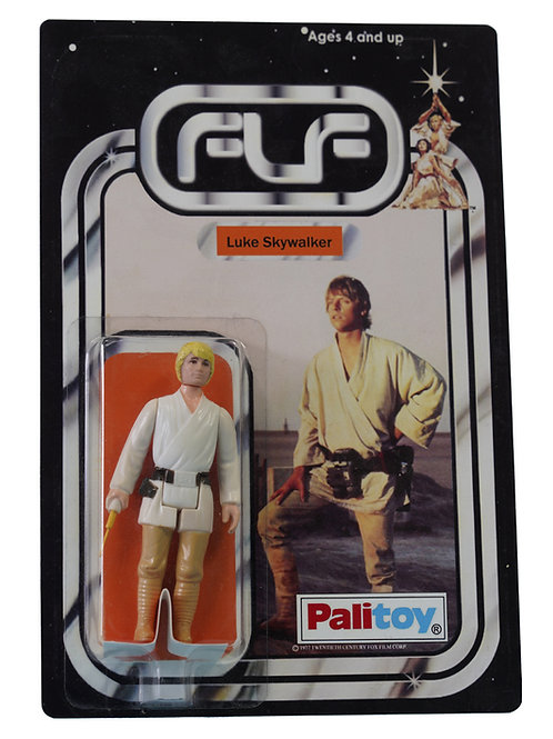 Vintage 1977 Star Wars Luke Skywalker Figure On Custom Made FTLOT