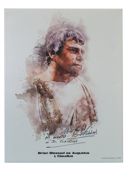 A2 Printed I, Claudius Canvas Signed By Brian Blessed