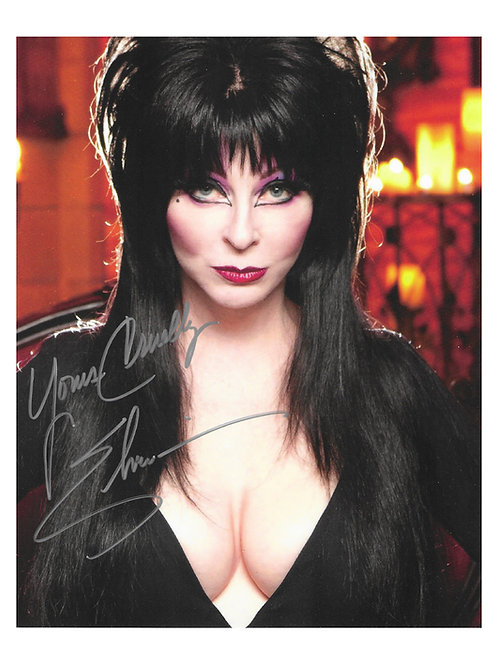 8x10 Elvira Print Signed by Cassandra Peterson