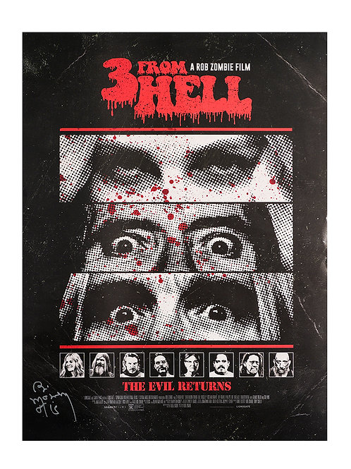 A2 3 From Hell Poster Signed by Bill Moseley