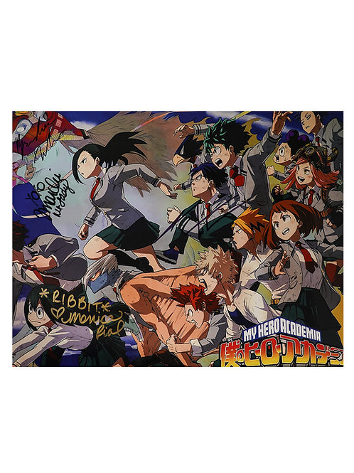16x12 My Hero Academia Print Signed by Marche, Rial, Tatum & McInnis