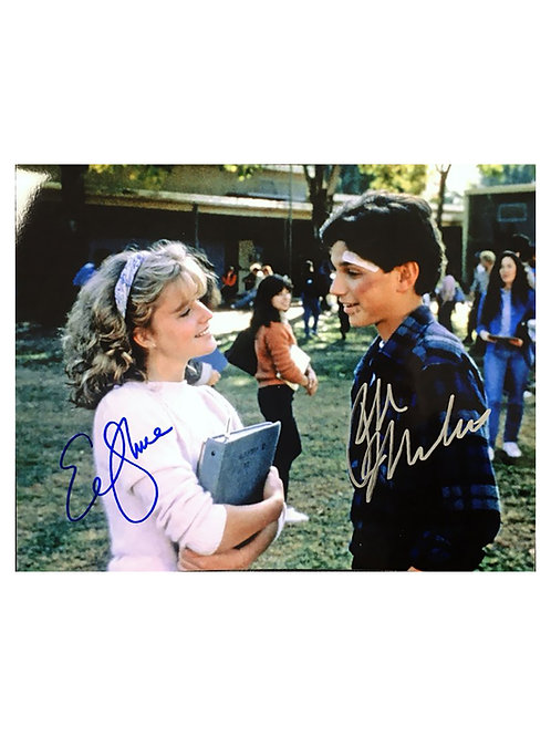10x8 Karate Kid Print Signed by Ralph Macchio and Elisabeth Shue