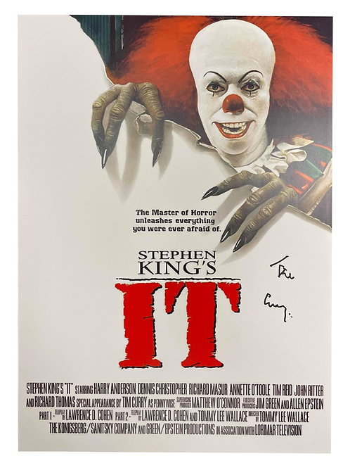 A3 Pennywise IT Poster Signed by Tim Curry