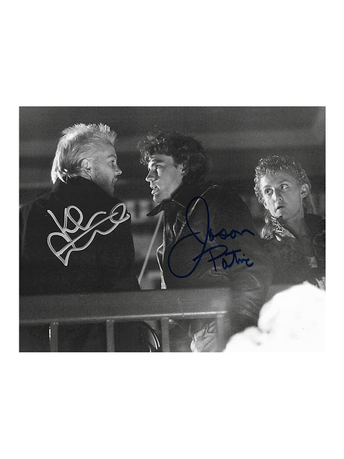 10x8 The Lost Boys Print Signed by Kiefer Sutherland & Jason Patric