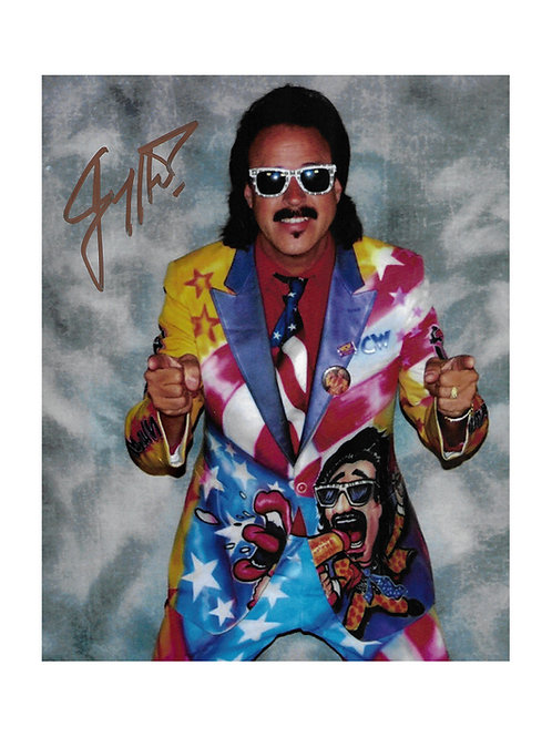 "8x10 Print Signed by Wrestling SuperstarJimmy ""Mouth Of The South"" Hart"