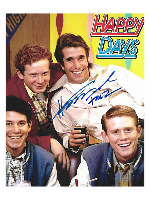 Collection of 8x10 Fonzie Prints With Different Quotes Signed By Henry Winkler