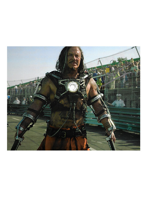 10x8 Iron Man 2 Print Signed by Mickey Rourke