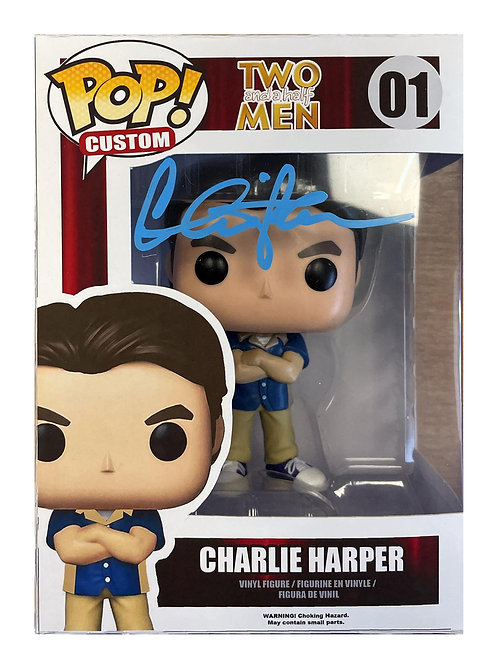 Two and a Half Men Custom Funko Pop #01 Signed by Charlie Sheen