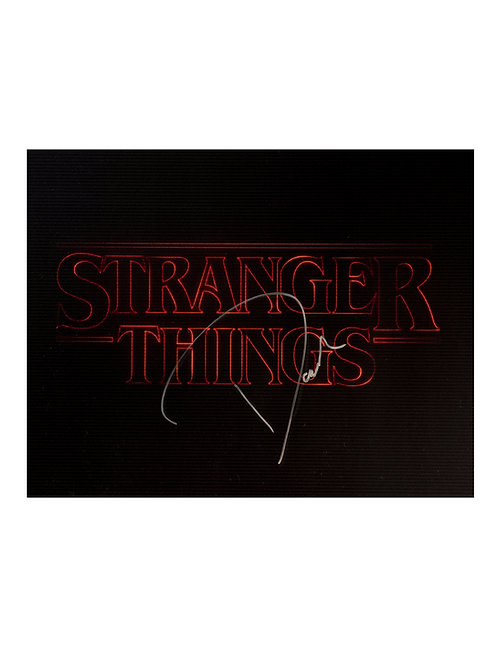 16x12 Stranger Things Print Signed by David Harbour