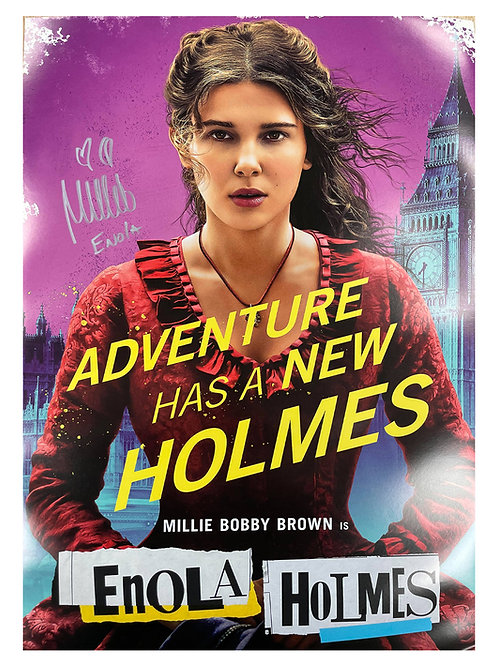 A2 Enola Holmes Poster Signed by Millie Bobby Brown
