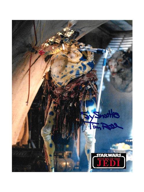 8x10 Star Wars Sy Snootles Print Signed byTim Rose