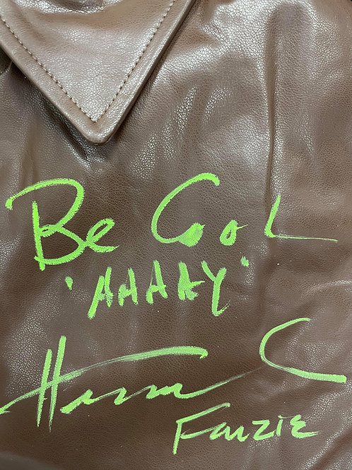 Be Cool AAAAY Authentic Fonzie Leather Jacket Signed By Henry W