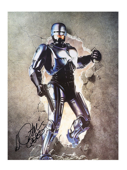 12x16 Robocop Print Signed by Peter Weller
