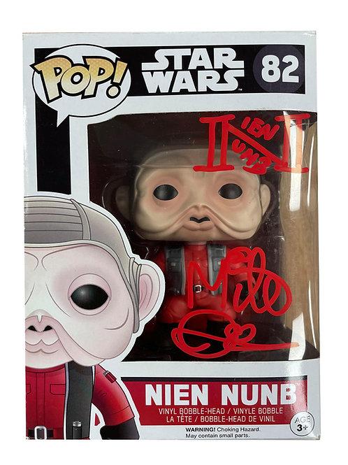 Nien Nunb Star Wars Funko Pop Figure Signed By Mike Quinn