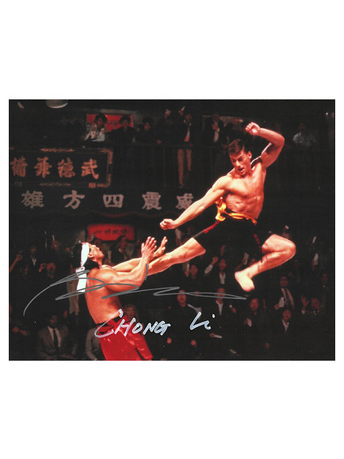 10x8 Bloodsport Print Signed Chong Li In Silver by Bolo Yeung
