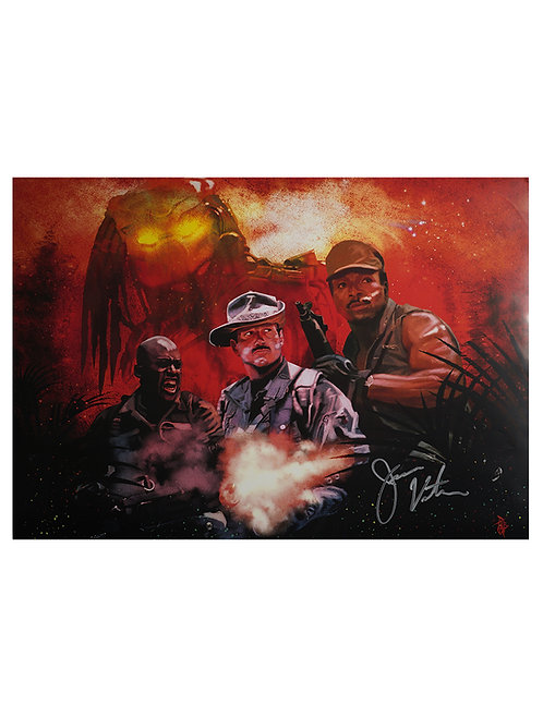 A2 Predator Blaine Illustrated Art Print Signed By Jesse Ventura