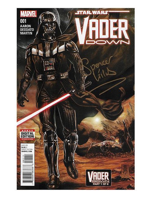 Marvel Darth Vader Comic Signed by Spencer Wilding