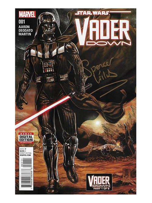 Marvel Darth Vader Comic Signed by Spencer Wilding