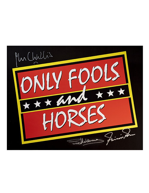 16x12 Only Fools & Horses Print Signed by Challis, Holderness & Pope