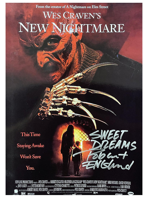A3 Wes Cravens New Nightmare Poster Signed by Robert Englund