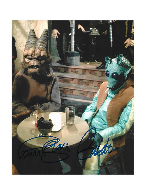 8x10 Star Wars Greedo Print Signed by Paul Blake