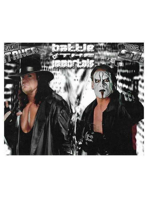 "10x8"" Unsigned WWE WCW Superstar Sting Print"