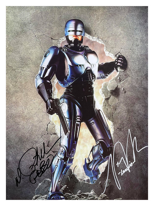 12x16 Robocop Print Signed by Peter Weller and Nancy Allen