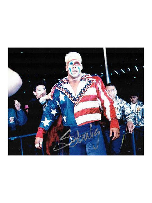 10x8 Print Signed by Wrestling Superstar Sting
