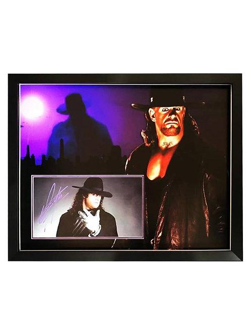 Framed Print Signed by Wrestling Superstar The Undertaker