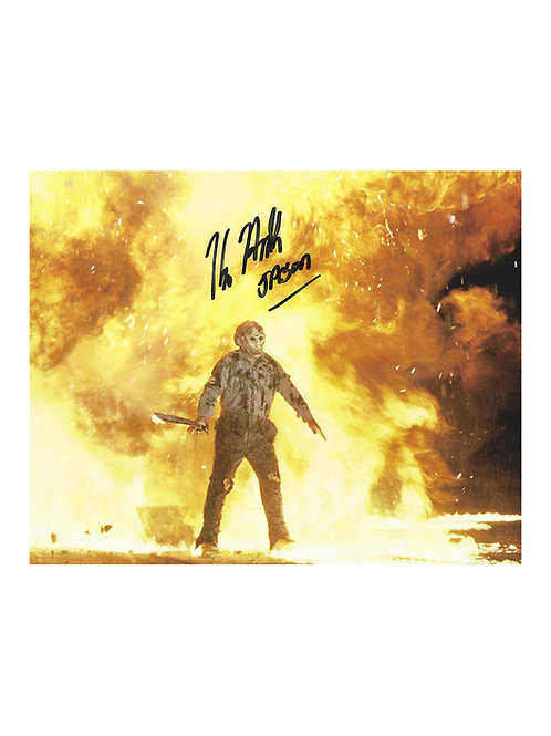 10x8 Jason Goes To Hell: The Final Friday Print Signed by Kane Hodder