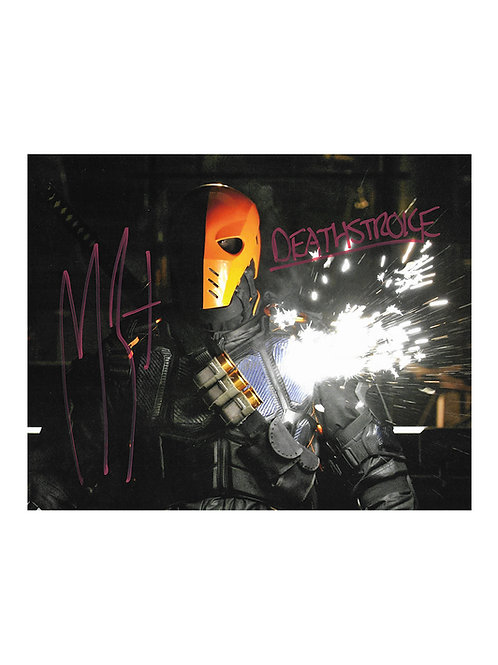 10x8 Arrow Deathstroke Print Signed by Manu Bennett