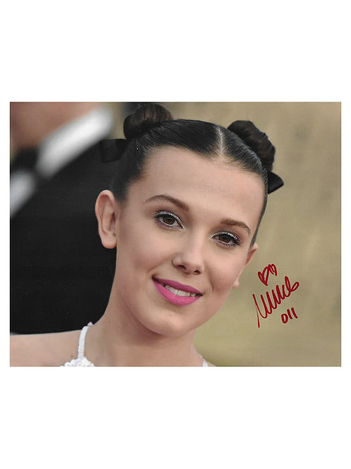 10x8 Print Signed by Millie Bobby Brown