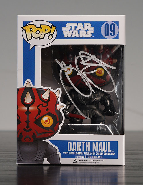 Darth Maul Packaged Funko Pop Figure Signed By Ray Park