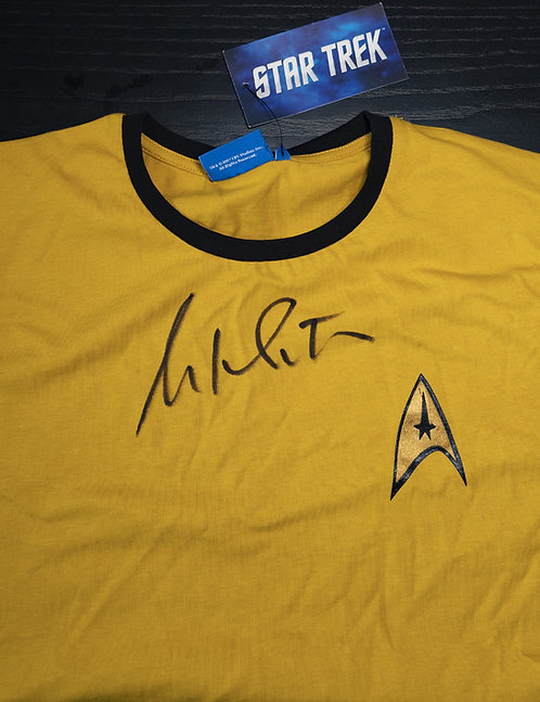 Official Star Trek Yellow T-Shirt Signed by William Shatner
