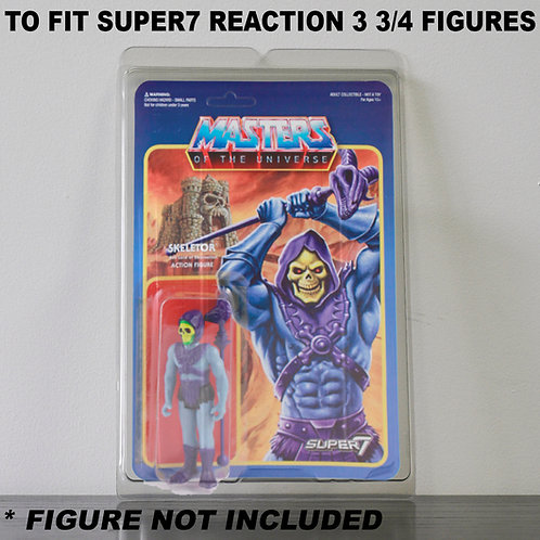 Protective Cases For Super7 Reaction 3 3/4 Inch MOC Figures - Various Pack Sizes
