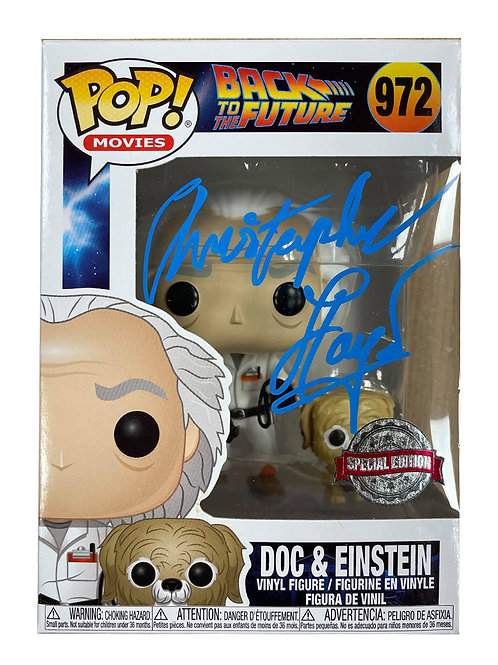 Back to the Future Funko Pop #972 Signed by Christopher Lloyd