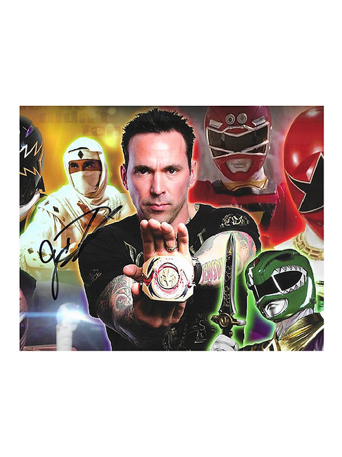 10x8 Power Rangers Print Signed by Jason David Frank