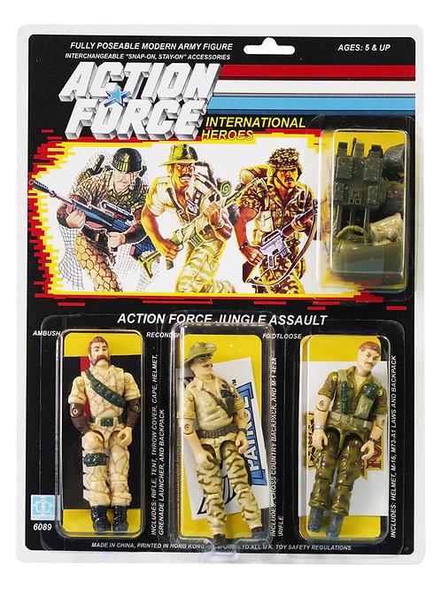 Action Force / GI Joe Jungle Assault Ambush, Recondo & Footloose MOC Custom