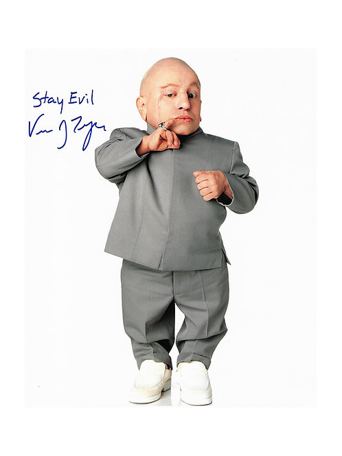 8x10 Austin Powers Print Signed by Verne Troyer