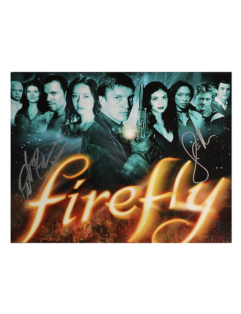 10x8 Firefly Print Signed by Sean Maher & Adam Baldwin