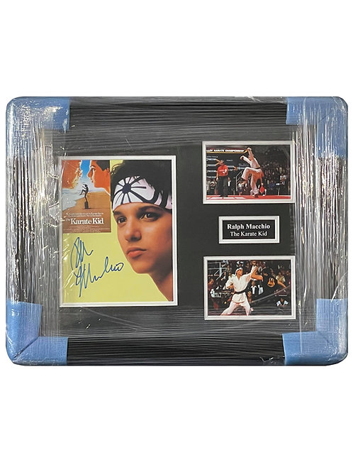 Framed 8x10 Karate Kid Print Signed by Ralph Macchio