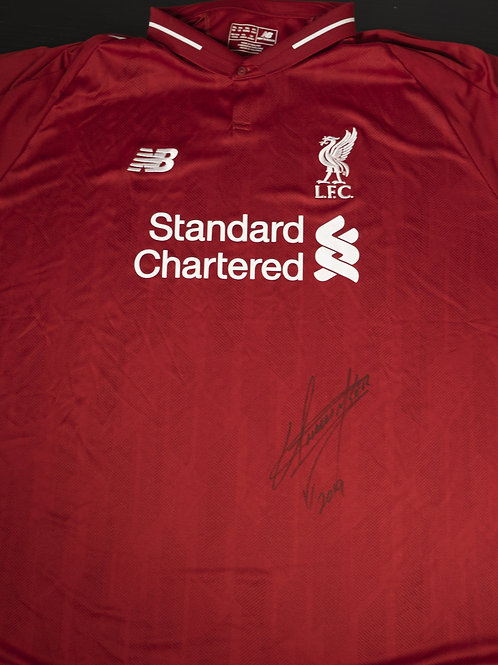 Official Liverpool FC Shirt Signed by Wrestling Superstar The Undertaker