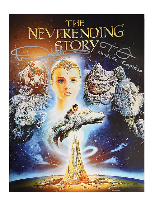 12x16 The Neverending Story Print Signed by Noah Hathaway & Tami Stronach
