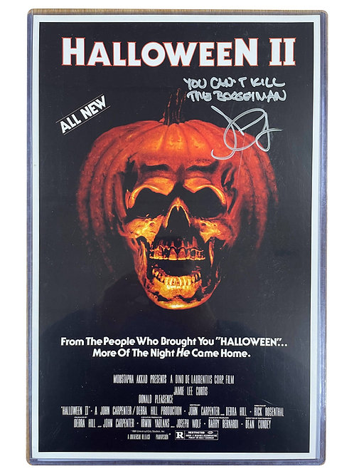 11x17 Halloween II Poster in Top Loader Signed by John Carpenter