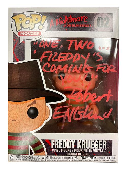Freddy Krueger Funko Pop One, Two... Signed by Robert Englund