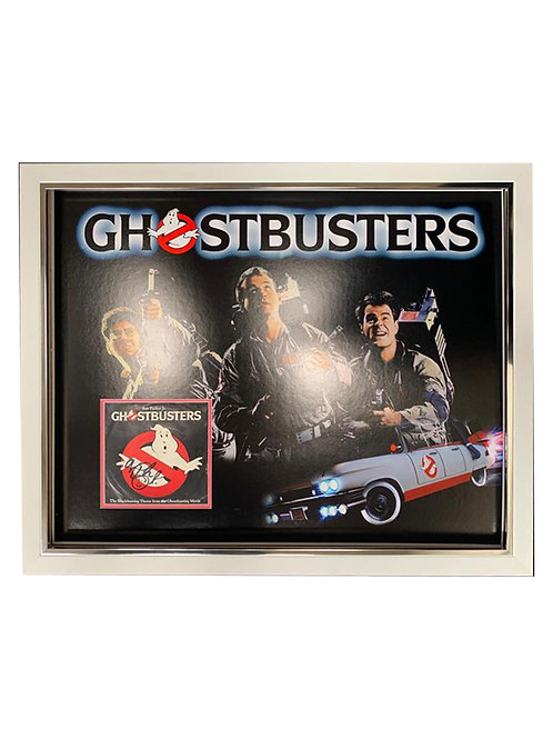 Framed Ghostbusters Vinyl Record Signed by Ray Parker Jr.