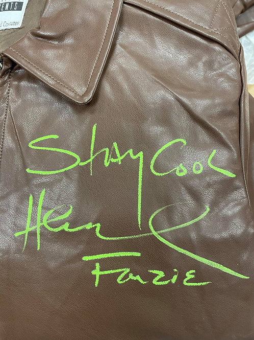 Stay Cool Authentic Fonzie Leather Jacket Signed By Henry Winkler